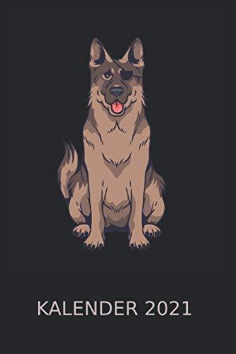 Hechelnder Hund mit Augenklappe Hundeliebhaber Kalender 2021: Vierbeiner Fellnase Wauwau | Kalender 2021