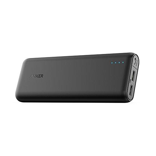 Anker batería portátil Powercore 20100 mAh, Portable, 2 salida USB de carga, Poder IQ optimiza la velocidad de carga, Compatible con...