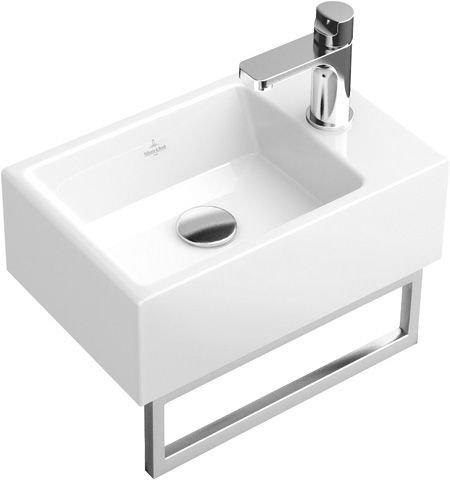 Villeroy und Boch Hand-Spoelbak Memento 533341 400x260mm, wit, zonder overloop, geschikt voor 1-gatenkraan, Kleur: Wit - 53334101