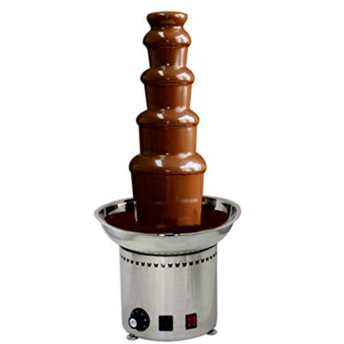 "CO-Z Large Chocolate Fondue Fountain 27"" 5-Tier All Stainless Steel for Big Party Wedding Hotel"