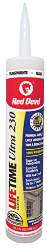 Red Devil 0777 Lifetime Ultra 230 Premium Elastomeric Acrylic Latex Sealant, 10.1 oz, Clear