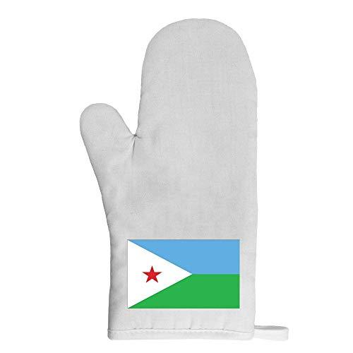 Mygoodprice Ofenhandschuh Topflappen Flagge Dschibuti