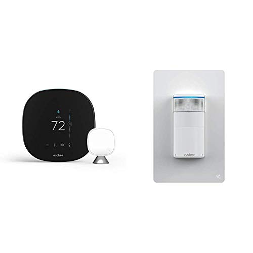 ecobee SmartThermostat with Voice Control and Switch+ Smart Light Switch Bundle