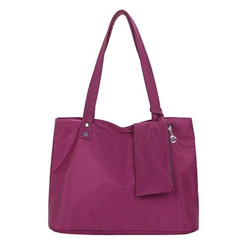 WZCN Official Store Juego de 2 bolsos de piel para mujer, de tela Oxford impermeable, de gran capacidad, bolso de mano, bolso de mano, bolso de mano con correa en la parte superior