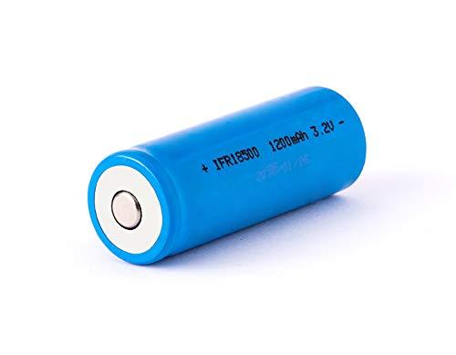 EIZfan IFR 18500-1200mAh 3,2V LiFePo4 Akku (Button Top) ungeschützt