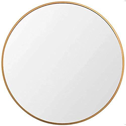 Espejo grande y redondo de pared, con aleación de aluminio, para baño, entrada, sala de estar de Huimei2Y
