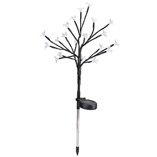 Toasses Lámpara de decoración de tierra con energía solar a prueba de agua con energía solar a prueba de agua para exteriores para jardín paisaje de patio (luz cálida)