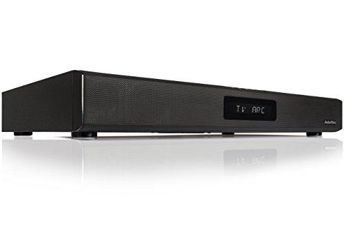 Produktbild von AudioAffairs TVS 2018 TV-Soundstand | HDMI Arc Heimkinoanlage | Soundbar mit FM PLL UKW Radio| Integrierter Subwoofer| Bluetooth 3.0 & Fernbedienung | Farbe: Schwarz