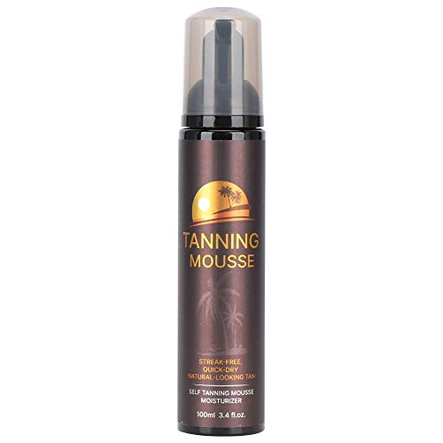 Duevin 100ml Self Tanner Mousse, Long Lasting Sunless Tanning Mousse Body Black Bronze