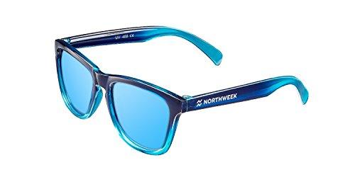 NORTHWEEK Kids Patrol - Gafas de Sol para Niño y Niña, Polarizadas, Azul Hielo