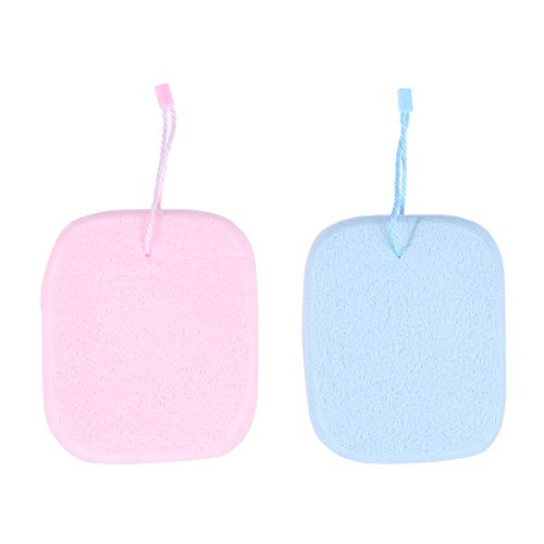 Healifty Lot de 2 éponges de nettoyage pour visage Bleu + rose