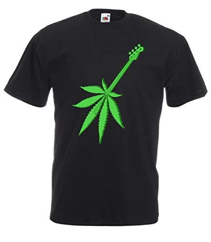 avis guitariste du monde professionnel MFAZ Morefaz Ltd T-shirts pour hommes et femmes Ganja Reef Weed Rasta Guitar Short Sleeve World 420 (Ganja…