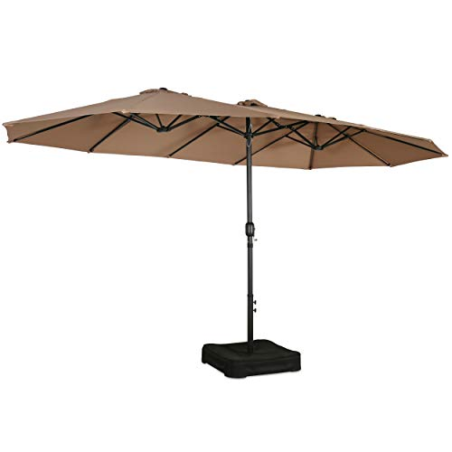 PATIO TREE 15 FT Market Umbrella Double-Sided Twin Large Outdoor Umbrella with...