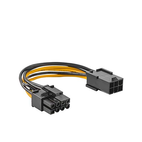 6 Pin to 8 Pin Pcie Adapter Cable, CableCreation 2-Pack 6-pin to 8-pin PCIe Express Power Adapter Cable, 4 Inches / 10CM