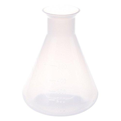 SODIAL(R) 500ml Botella de almacenamiento Frasco conico quimico de laboratorio de plastico claro