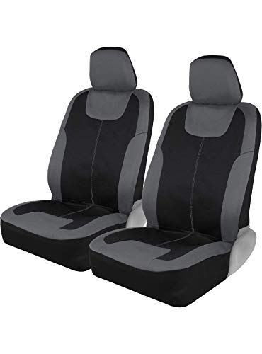 Motor Trend M224 Charcoal Gray Devil's Symmetry Premium Fabric Car Seat Covers for Automotive - Polyester Interior Protection