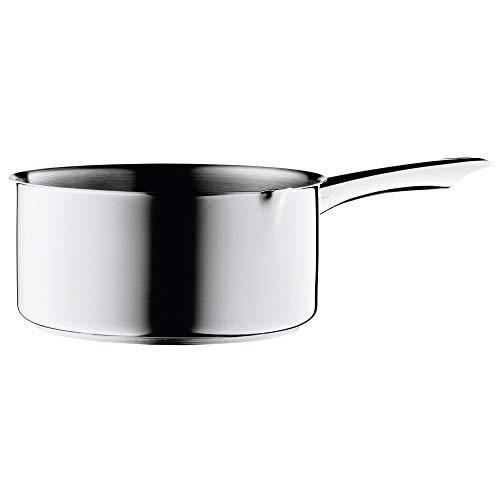 WMF Steelpan, 16 cm, met snoop, zonder deksel, kookpan 1,5 l, Cromargan gepolijst roestvrij staal, paninductie, ongecoat