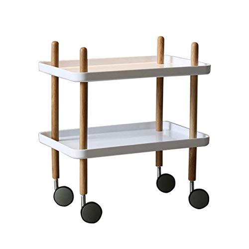 Organizador para Zapatos Zapatero multifuncional con rueda universal Elegante mesa auxiliar for sofá de 2 capas Mesa de centro pequeña for sala de estar Dormitorio (negro) Mueble para Zapatos