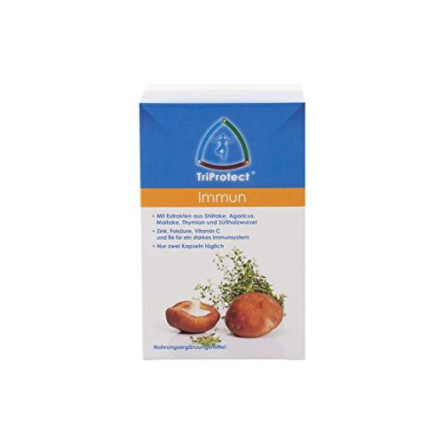 Hawlik Vitalpilze - Immun TriProtect - 120 Kapseln - Extrakt Mischung aus Shiitake, Agaricus, Maitake, Thymian, Süßholzwurzel
