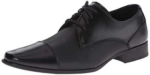 Calvin Klein Men's Bram Oxford, Black Diamond Leather, 10