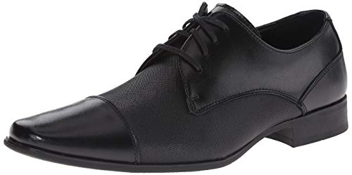 Calvin Klein Men's Bram Oxford, Black Diamond Leather, 9 Medium US