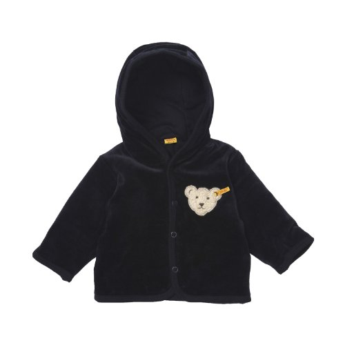 Steiff Unisex - Baby Jacke, uni Classics Nicky Jacke 0002867, Gr. 56, Blau (marine)