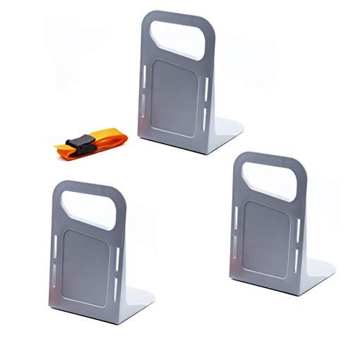 Vicera Kofferraum Organizer Klett fürs Auto - Trenner/Teiler zur Sicherung und Fixierung der Ladung oder Gepäck - geeignet für raue Oberflächen (bspw. Filz) - 3 Stück inkl. Gurt