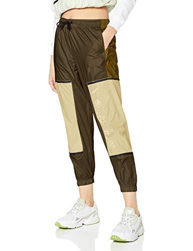 NIKE - W NSW Pant Wvn Archive RMX, Pantalones Deportivos para Mujer, Mujer, Pantalones Deportivos, CU6395, Olive Flak/Tea Tree Mist/White, S