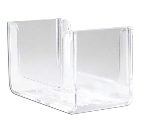 MeinTablett Bierdeckelhalter für quadratische Bierdeckel - 2 Stück (Transparent, Einzelbestellung)