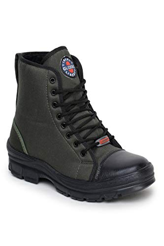Liberty Gliders Green Canvas Hunter Boots for Mens