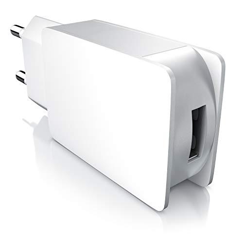 CSL - 2A USB Netzteil Ladegerät max. 2000mA - 5V DC USB Ladeadapter Steckernetzteil - universal für alle Geräte einsetzbar - in weiß