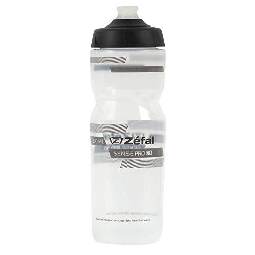 Zefal Unisex– Erwachsene Sense Pro 80 Trinkflasche, transp/grau/sw, 800ml