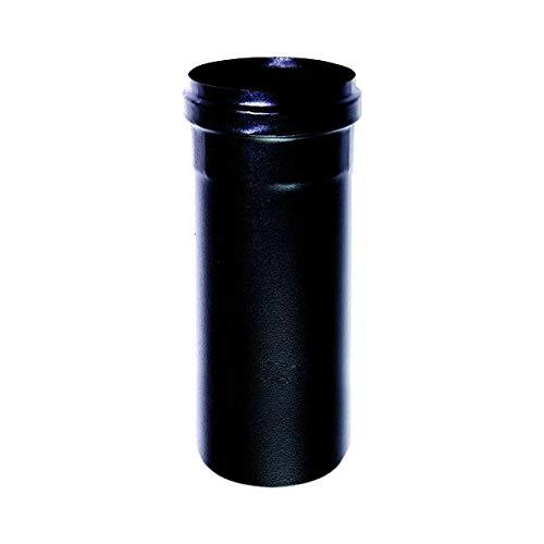 Schwarz Rohrelement telecopico DN 80 lackiert lackiert lackiert 600 Grad 600 Grad Holzpelletofen schwarzes Rohr EC Made in Italy