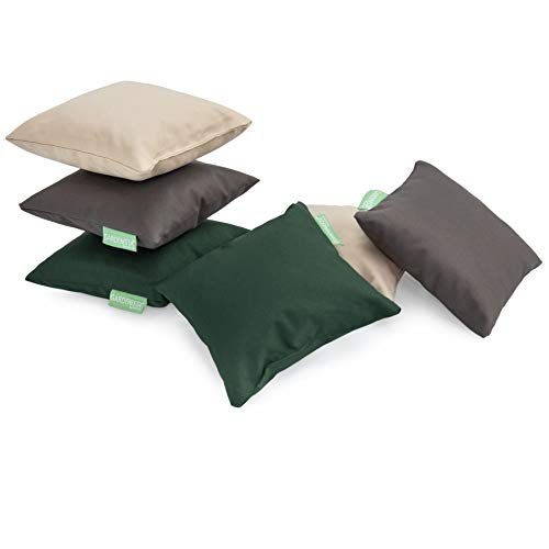 Gardenista Small Cushions with Covers | 6 Pcs Mixed Base Colours Mini Cushions | Waterproof Small Pillow Set for Garden, Living Room, Sofa, Bed, Car | Hypoallergenic Foam Crumb Filled (20x20 cm)