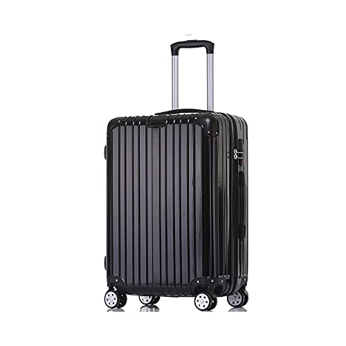Luggage, Trolley Case, Suitcase, Pinks, Silver, Red, Black Brown, 20 Inches, 22 Inches, 24 Inches, 26 Inches, with 4 Sets of Rotating Wheels, Combination Lock, Telescopic Rod, Zipper, PC+ABS