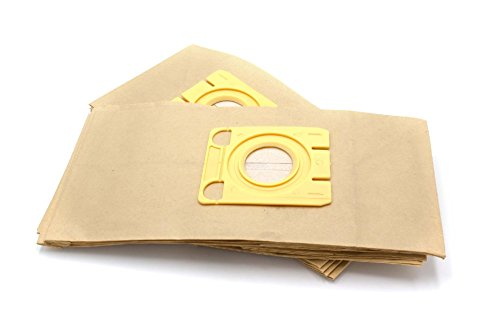 vhbw 10 Papier Staubsaugerbeutel Filtertüten für Staubsauger Saugroboter Miele S190, S191, S192, S193, S194, S195, S196, S197, S198, S199, S200, S201