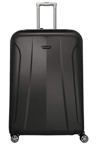 travelite 4-Rad Koffer Größe XL mit TSA Schloss, Gepäck Serie ELBE: Widerstandsfähiger Hartschalen Trolley, 075559-20, 81 cm, 123 Liter, anthrazit (grau)