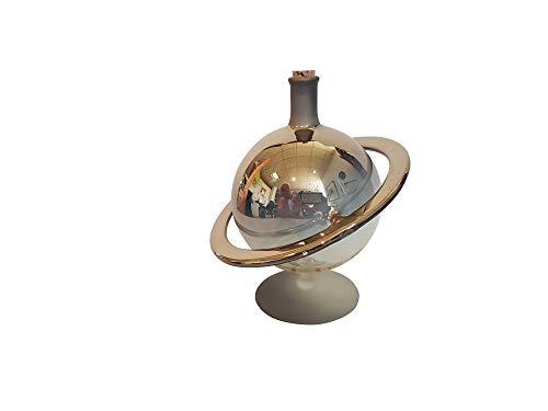 Carafe Doré comme Saturn Carafe en verre peut être rempli avec détails décoratifs Verre soufflé Capacité 0,35 l, hauteur environ 14,5 cm avec le bouchon colonel dorfer Niche