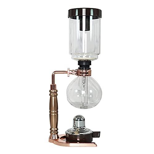 Siphon-Kaffeemaschine Siphon-Kaffee-Topf-Haushaltssiphon-Topf-Set-Glas-Appliance-Kaffeemaschine einzigartige Brühmethode (Farbe: Roségold, Größe: klein) BJY969 (Color : Rose Gold, Size : Large)