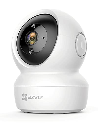 EZVIZ Indoor Security Camera 1080P, Wi-Fi Dome Surveillance, Night Vision, Motion Detection, Auto Tracking Baby/Elder/Pet, Cloud Storage/SD Slot, 2-Way Audio, Works with Alexa,Google (C6N)