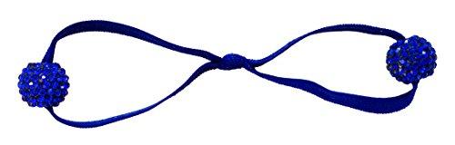 EMI JAY elastico doppio Blitzen blu 2 blu brillante strass Balls