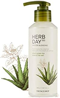 [The Face Shop] Herb Day 365 Master Blending Pumping Foam Cleanser 215ml #01 Aloe&Green Tea
