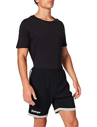Kempa Herren Core 2.0 Shorts, schwarz/dark grau melange, S