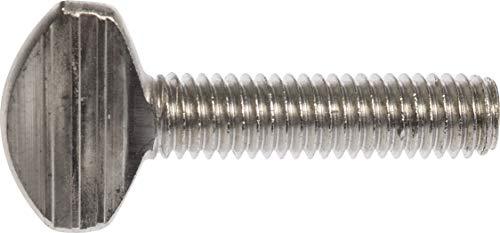 Le groupe Hillman 44936 1/4–20 x 3/10,2 cm en acier inoxydable Vis moletée, 7-pack