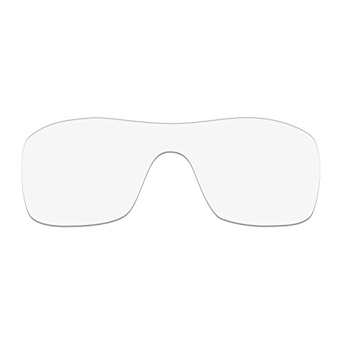 HKUCO Mens Replacement Lenses For Oakley Batwolf Sunglasses Transparent Polarized