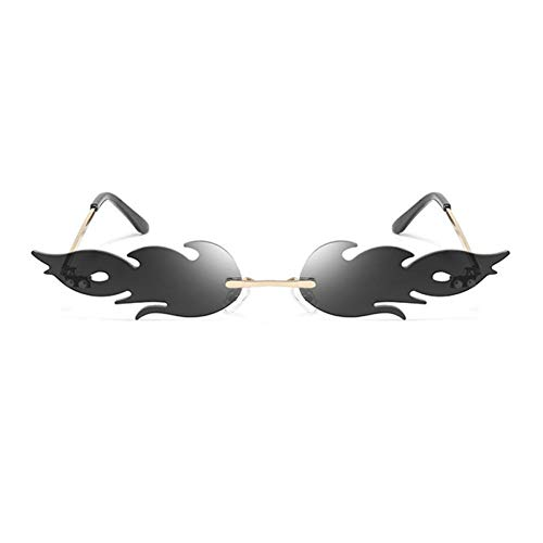 YCEOT Gafas de Sol Mujer Hombre Rimless Wave Gafas de Sol Gafas Gafas de Sol de Tendencia Street Wear
