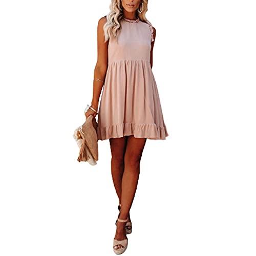 Verano Europeo Y Americano Wish Foreign Trade Amazon Vestido Nuevo De Mujer con Cintura con Volantes