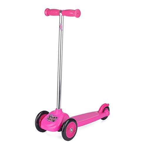 Xootz Scooter con 3 Ruedas, Tri-Scooter para niños, Color Rosa