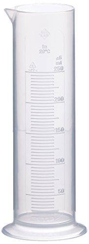 Neolab 4037Messzylinder, niedrige Form, 250ml–10ml–Polypropylen, runder Sockel
