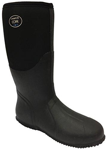 Nora 7962411 Champion CORE Unisex-Erwachsene Gummistiefel, Regenstiefel, Boots mit Neopren Schwarz (Black), EU 46